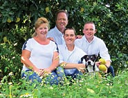 Schorner Family in the groves